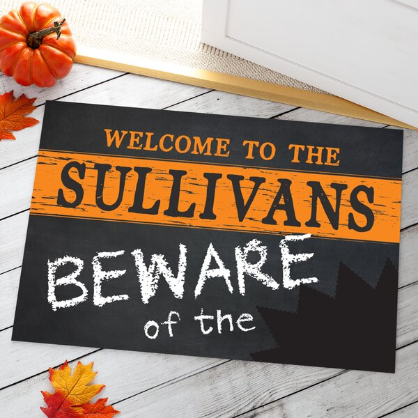 Acuna Beware Personalized Doormat by The Holiday Aisle