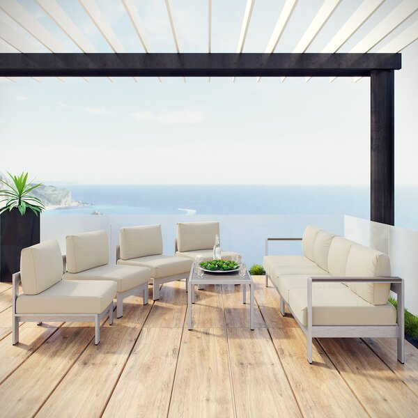 Coline 7 Piece Sofa Set with Cushions by Orren Ellis