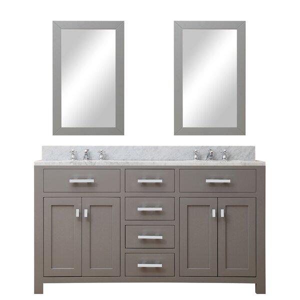 Raven 60 Double Bathroom Vanity Set with Mirror by Andover Mills