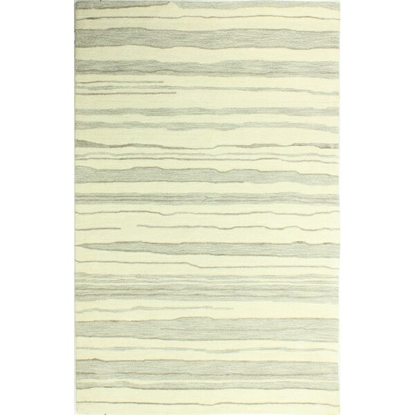 Kelson Hand-Tufted Ivory/Silver Area Rug by Latitude Run