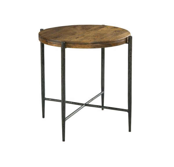 Bolanos Metal and Wood End Table by Union Rustic