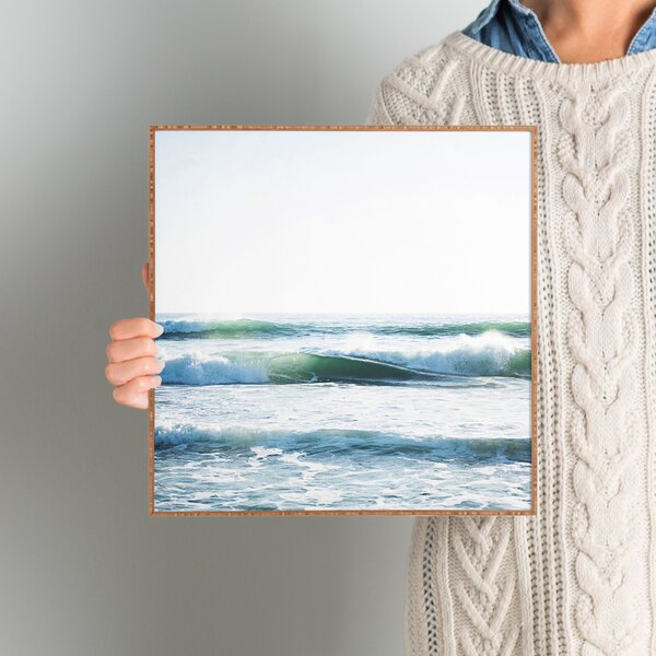 Ride Waves Framed Wall Art by Beachcrest Home