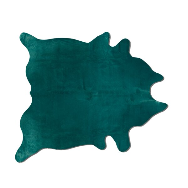 Plainsboro Handmade Verde Cowhide Area Rug by Latitude Run