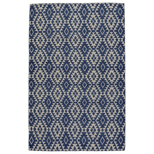 Hallock Hand-Loomed Blue Area Rug by Brayden Studio