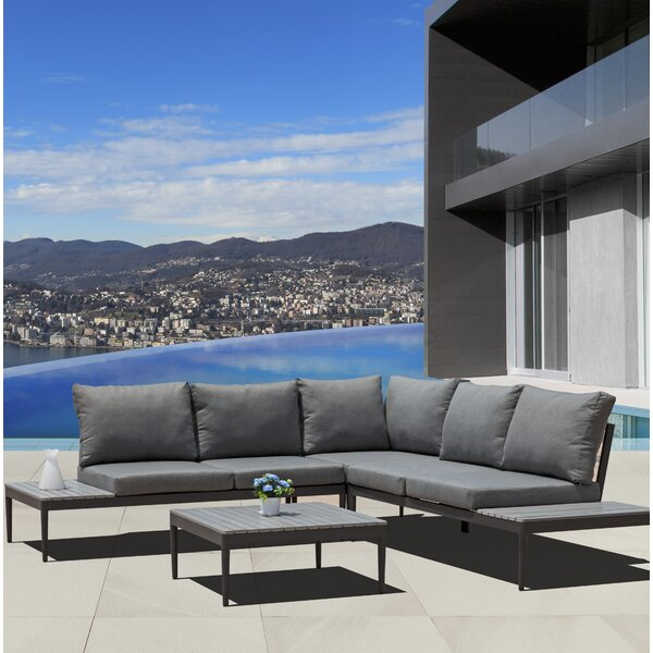 Laprade 2 Piece Sectional Seating Group with Cushions by Brayden Studio