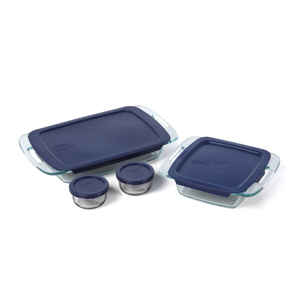 Easy Grab 8 Piece Bakeware Set by Pyrex