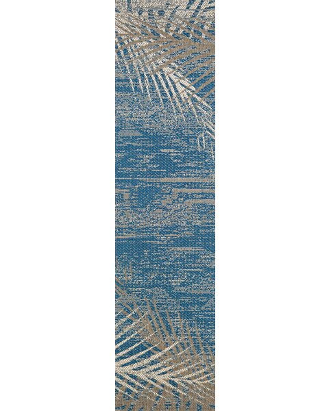 Odilia Tropical Palms Blue/Gray/Beige Indoor/Outdo