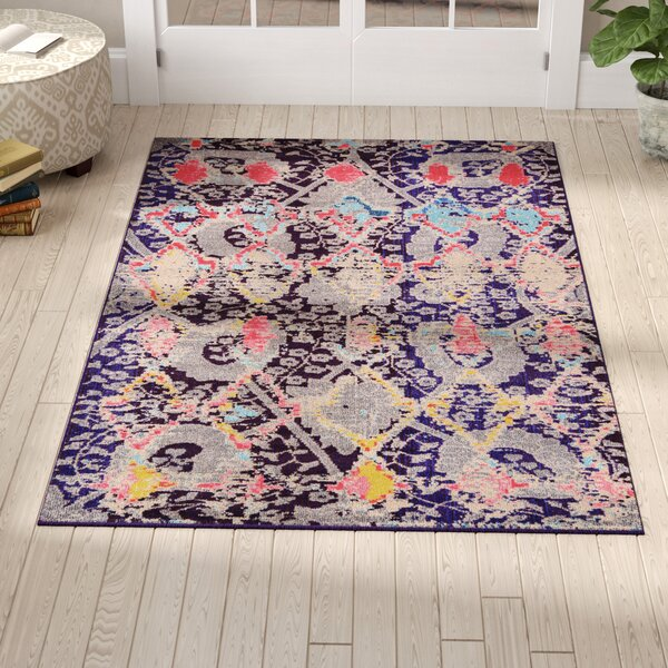 Delane Navy Blue Area Rug by Mistana