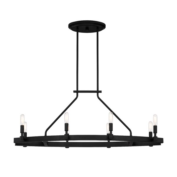Drubin 8-Light Candle Style Wagon Wheel Chandelier By Williston Forge