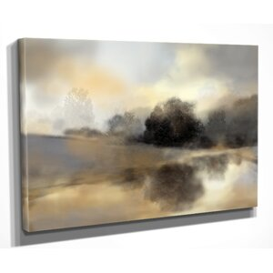'Misty Pond' by Nan Painting Print on Wrapped Canvas by Wexford Home