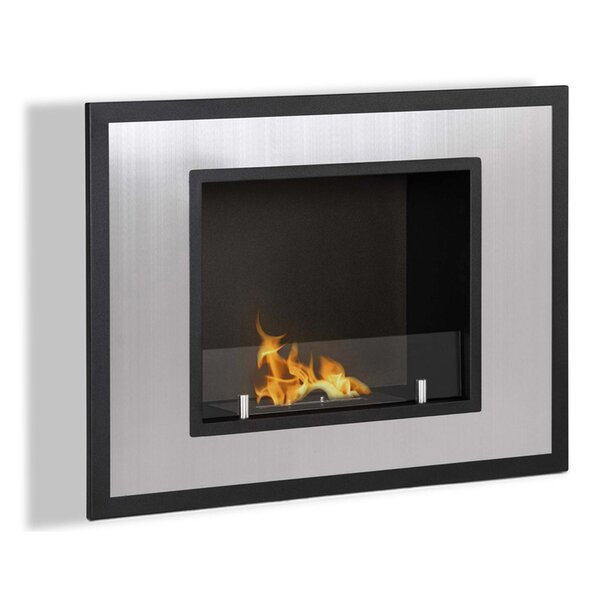 Abbott Ventless Recessed Wall Mounted Bio-Ethanol Fireplace By Orren Ellis