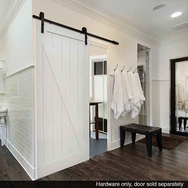 Single Barn Door Hardware by Verona Home Design