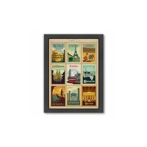 'World Travel 1' Framed Vintage Advertisement by East Urban Home