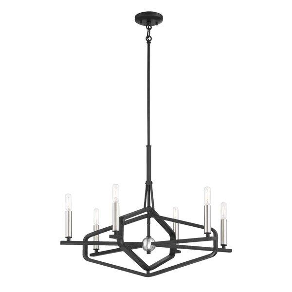Zula 6 - Light Candle Style Geometric Chandelier By Gracie Oaks