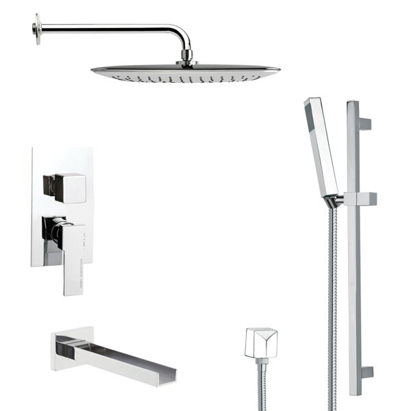 Galiano Pressure Balanced Complete Shower System with Rough-in Valve by Remer by Nameek's Remer by Nameek's