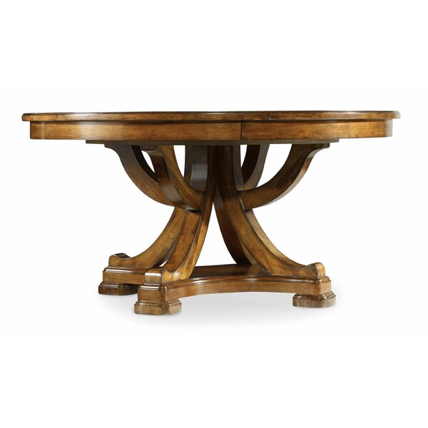 Tynecastle 60in Round Dining Table w/1-18in Leaf by Hooker Furniture