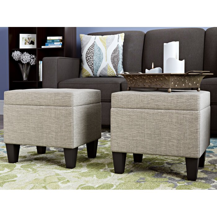 Swell Hirsh 3 Piece Storage Ottoman Set Gmtry Best Dining Table And Chair Ideas Images Gmtryco