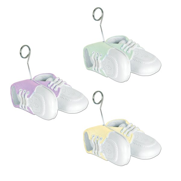Baby Shoes Photo Holder Picture Frames (Set of 6) by The Beistle Company