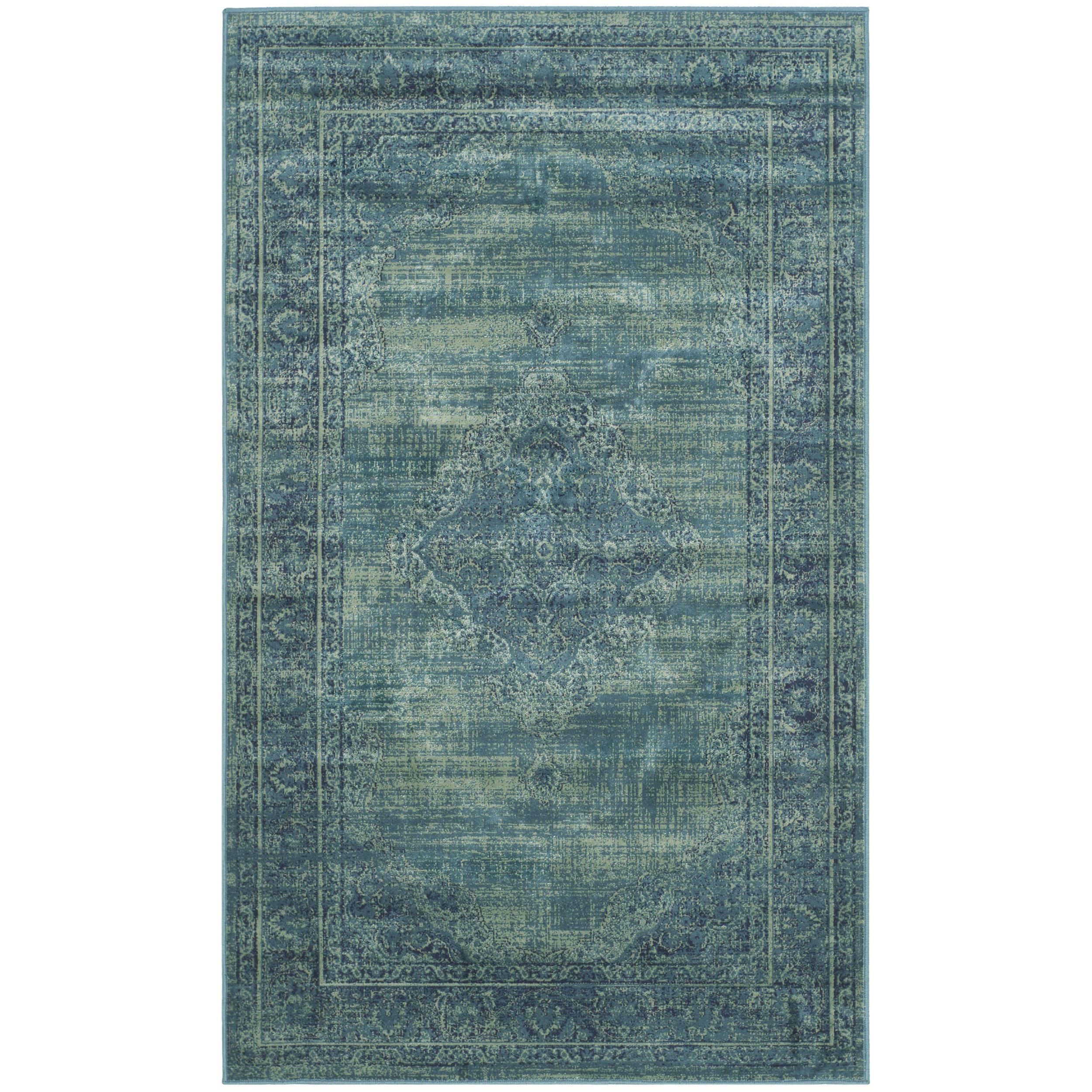 Mistana Makenna Turquoise Area Rug & Reviews | Wayfair