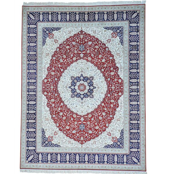 One-of-a-Kind Salzer Hand-Knotted Ivory Area Rug by Astoria Grand