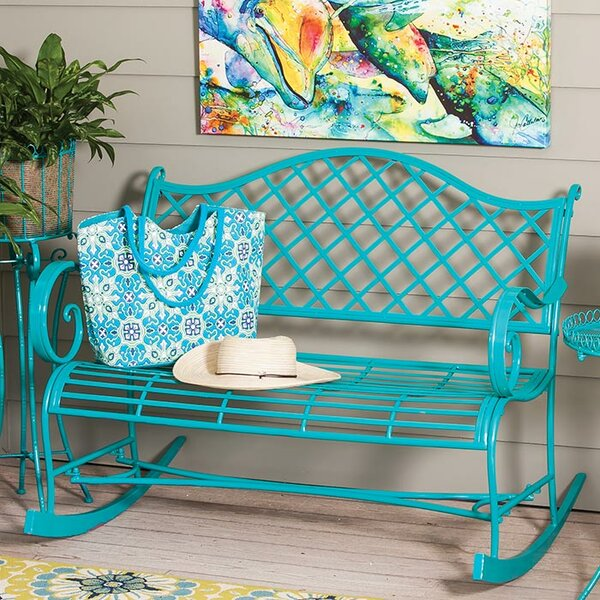 Bromelton Indoor/Outdoor Rocking Bench By Bungalow Rose by Bungalow Rose Great price