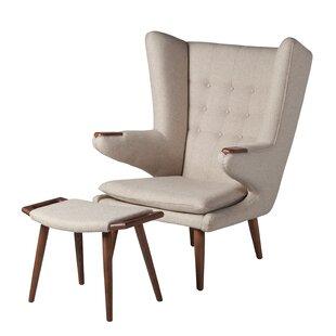 Johanna Papa Bear Lounge Chair and Ottoman by Corrigan Studio