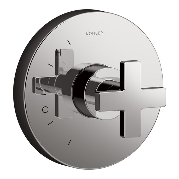 Composed® Thermostatic Faucet Trim with Cross Handle by Kohler
