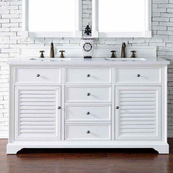 Osmond 60 Double Cottage White Wood Base Bathroom Vanity Set by Greyleigh