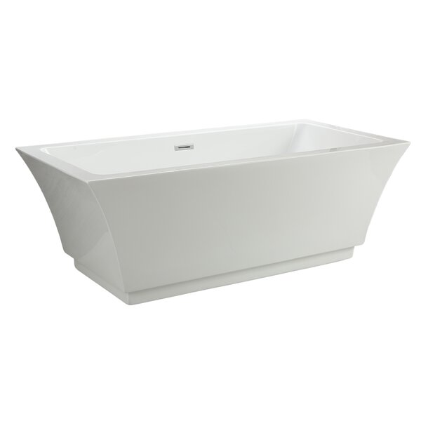 Maliboo 66 x 31.5 Freestanding Soaking Bathtub by MTD Vanities