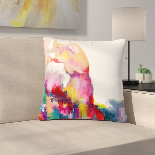 Cecibd Espana III Painting Outdoor Throw Pillow by East Urban Home