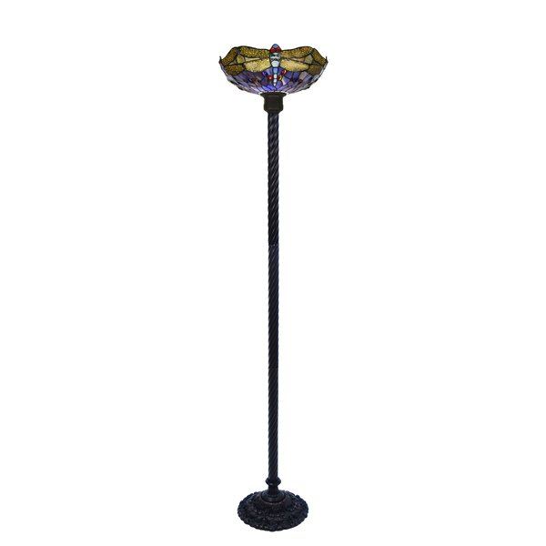 Quince 72 Torchiere Floor Lamp by August Grove
