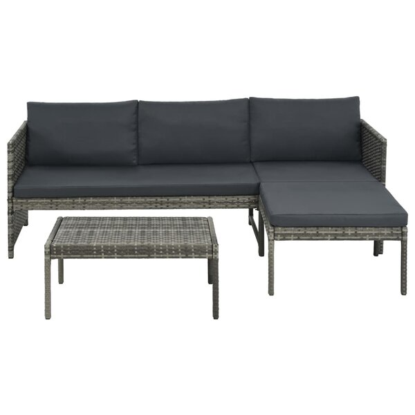Thaxted Outdoor 3 Piece Sectional Seating Group with Cushions by Ivy Bronx