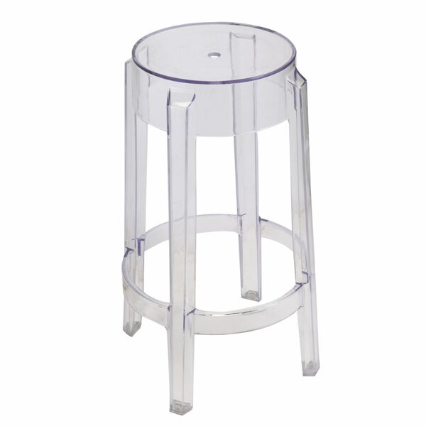 Poitra Transparent 30 Bar Stool by Wrought Studio