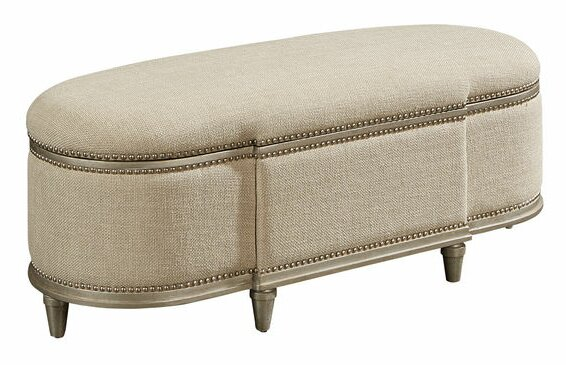 Hanna Upholstered Storage Bench by One Allium Way One Allium Way