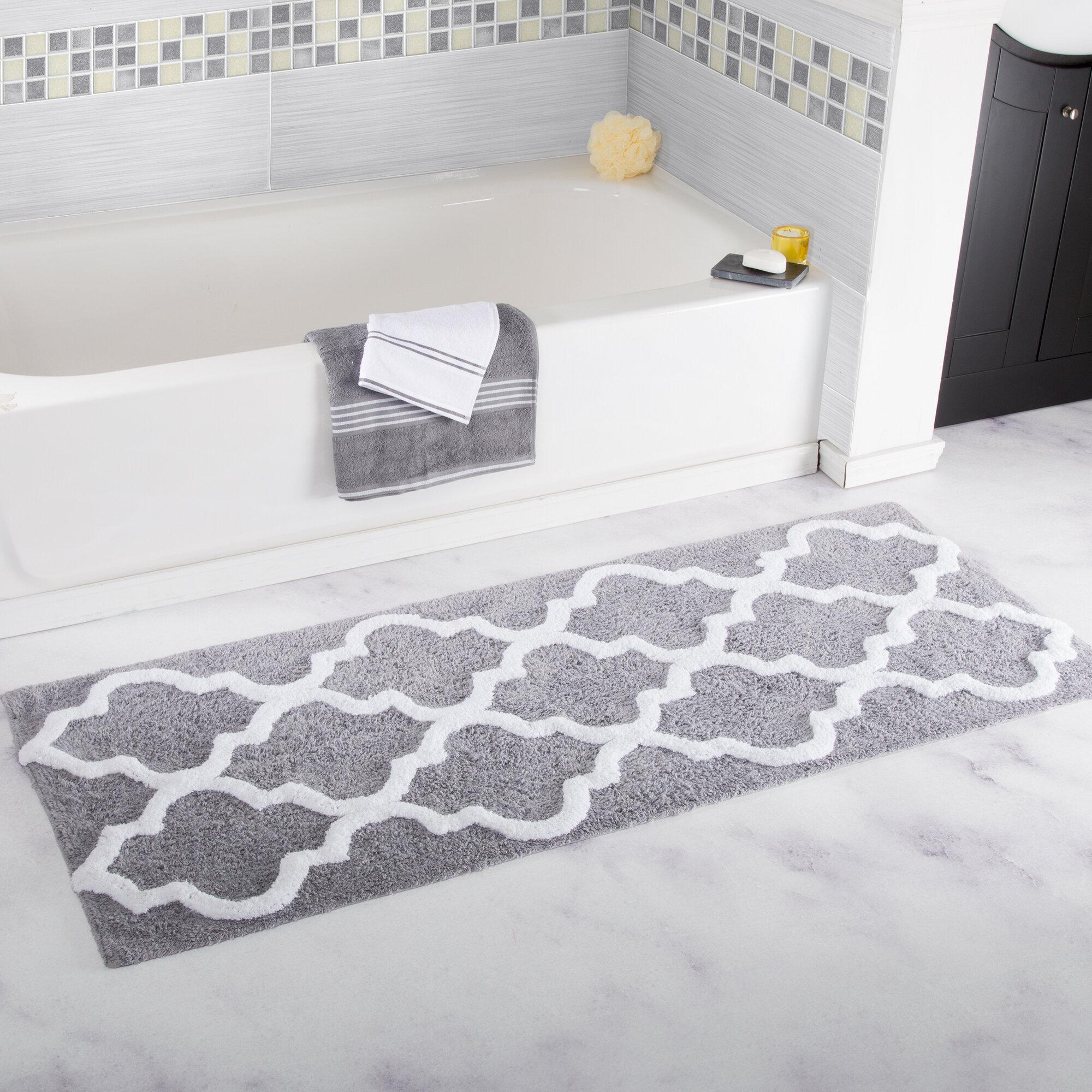 set with super non rugs rust bath mat flocking rug shag bathroom soft amazoncom piece fabric microfiber