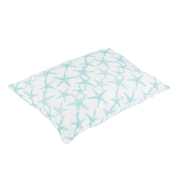 Argyle Piped Edge Indoor/Outdoor Floor Pillow by Beachcrest Home