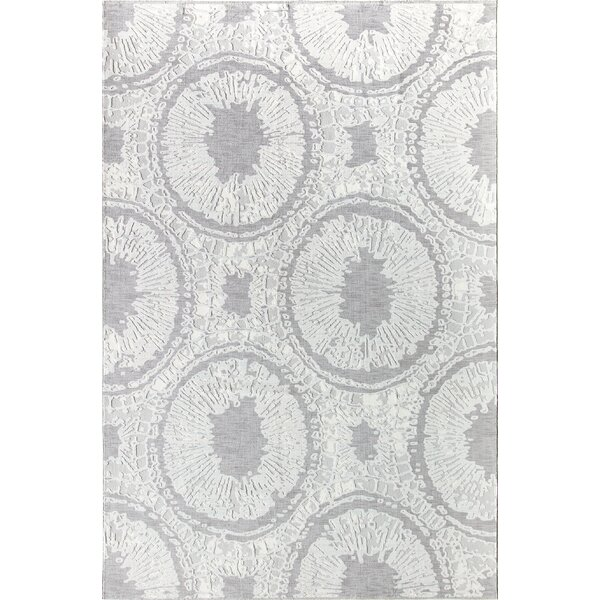 Delancey Gray/Ivory Area Rug by CosmoLiving