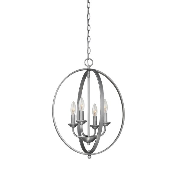 Windermere 4 - Light Candle Style Globe Chandelier by Fleur De Lis Living Fleur De Lis Living