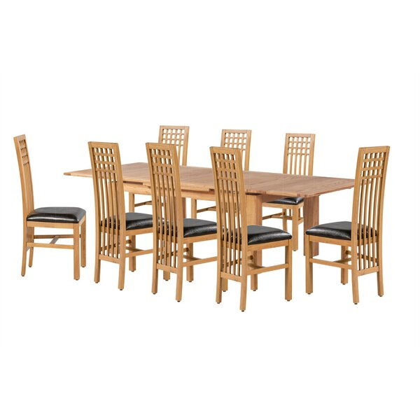 Pedraza 9 Piece Extendable Dining Set by Loon Peak
