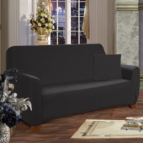 Looking for Box Cushion Sofa Slipcover By ELEGANT COMFORT 2019 Sale