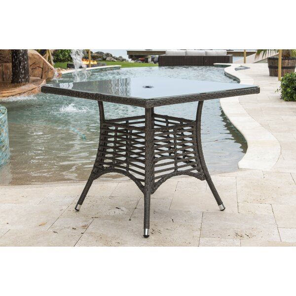 Graphite Wicker Dining Table by Panama Jack Outdoor