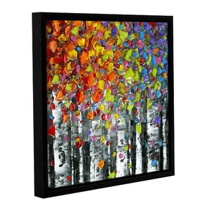 Birch 02 Framed Graphic Art by Latitude Run