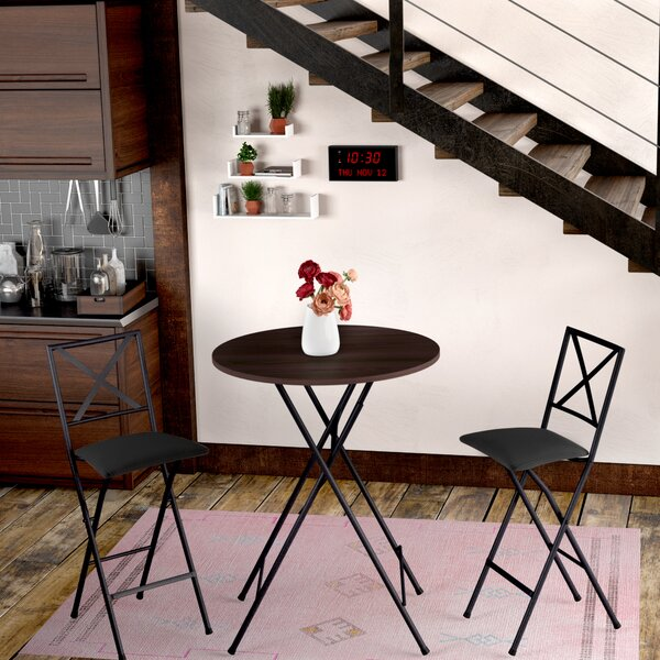 Vargas 3 Piece Counter Height Bistro Set by Winston Porter