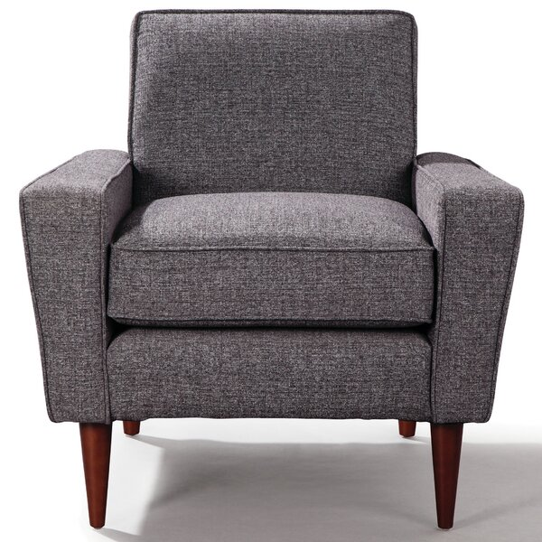 Zackary Mid Century Lounge Armchair by Langley Street