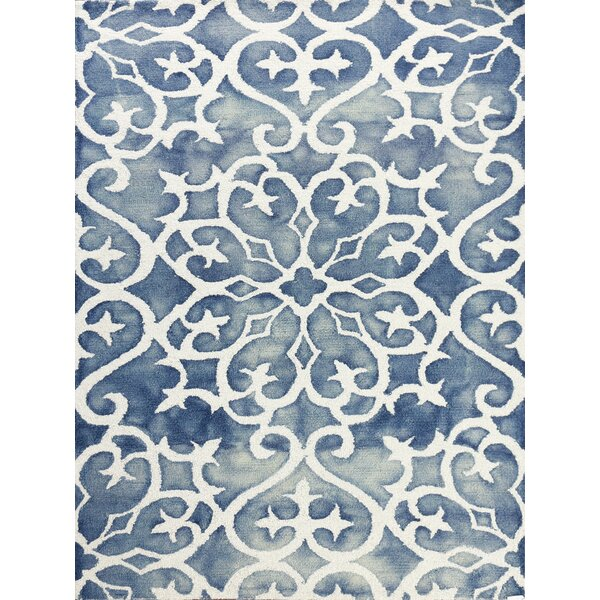 Eltingville Blue/White Area Rug by Wrought Studio