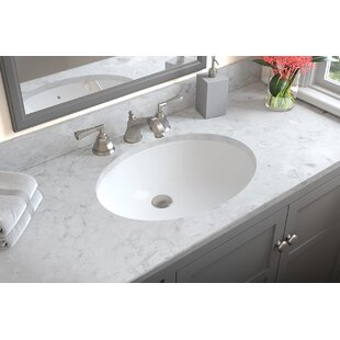 Compare & Buy Compass Ceramic Oval Undermount Bathroom Sink with Overflow By Ronbow