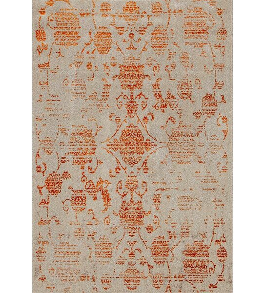 Murphysboro Cream/Orange Indoor/Outdoor Area Rug by Alcott Hill