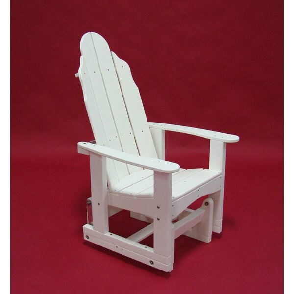 Traditional Plastic Glider Adirondack Chair by Tailwind Furniture