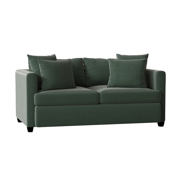 Velvet 72-inch W Square Arm Sofa by Piedmont Furniture Piedmont Furniture