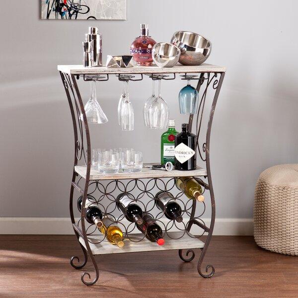 Arsenio 18 Bottle Floor Wine Bottle and Glass Rack by Wildon Home Wildon Home®